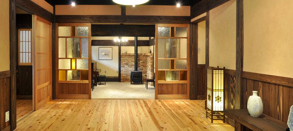 現代古民家のモデル住宅 スタジオ「風のくら」